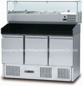 Stainless Steel Display Refrigerator for Pizza pictures & photos