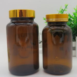 Amber and Transparent Glass Bottle for Medicament pictures & photos
