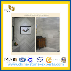 Natural Polished White Wood Marble Stone Tile for Flooring / Walling (YY -MTS001) pictures & photos