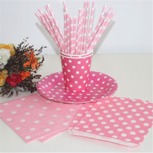 Colorful Polka DOT Paper Drinking Straws for Wedding Birthday Gift pictures & photos