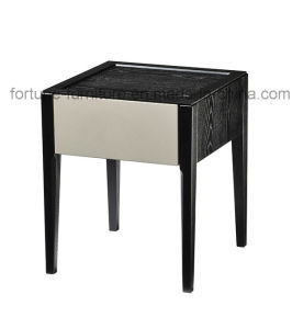 Wooden Solid Wood Feet Nightstand I&D-10512 (Two colors) pictures & photos