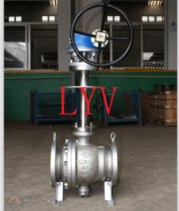 Worm Gear Flanged Reduced Stainless Steel Ball Valve pictures & photos