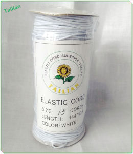 Hot Sale 1.5 Cords Round White Elastic Cord pictures & photos