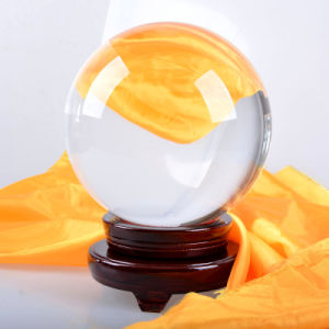 Large Crystal Sphere Ball with Wooden Base Fengshui Home Decoration pictures & photos
