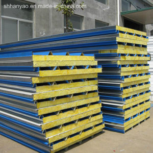 Insulated Fireproof Steel Rock Wool Sandwich Roof Panels Wall Panel Sandwich pictures & photos