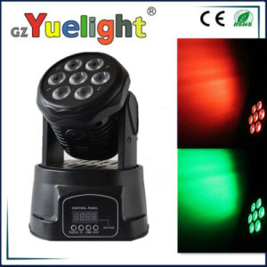 7PCS 10 Watt LED Mini DMX Wash Moving Head Light pictures & photos