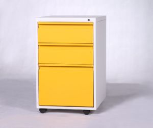 New 3 Drawer Mobile Pedestal Lockable Filing Cabinet pictures & photos