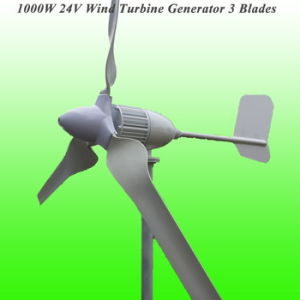 New Arrival 3 Blades Rated 1000W 24V Wind Generator with 3 Years Warranty & 15 Years Life Time pictures & photos
