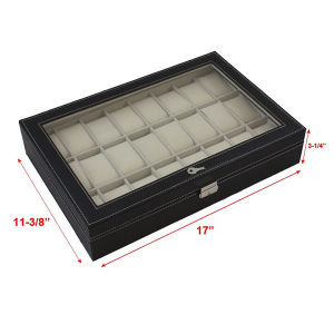 Black Leather 24 Mens Watch Case (HX-A0755) pictures & photos