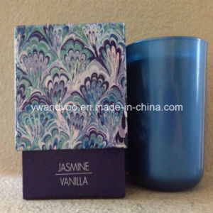 Scented Soy Candle in Blue Glass and Gift Box pictures & photos