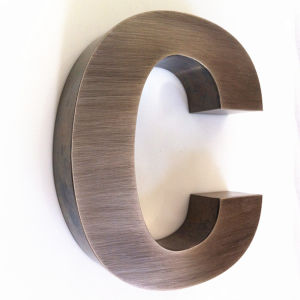 Brushed Finish Stainless Steel Channel Letter Sign pictures & photos