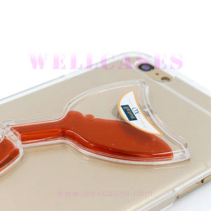 Oil Dripping Tilt Wine Glass Flowing Liquid Phone Case pictures & photos