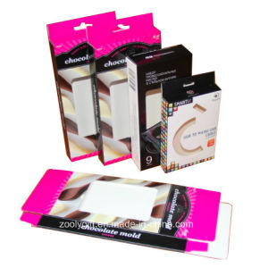 Foldable Printing Cardboard Chocolate Box / USB Packing Box with Hanger pictures & photos