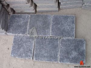 Blue Limestone Honed Tumbled Floor Tile for Paving pictures & photos