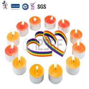 Environmental Competitive Price Fashionable Unscented Colored Bco Unscented Colored Tea Light Candles pictures & photos