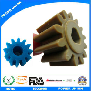 Precise Peek Plastic Injection Cylindrical Transmission Spur Pinion Gear pictures & photos