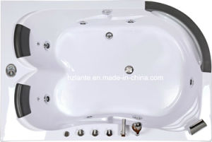 Double Person Massage Acrylic Whirlpool Bathtub with Pillow (TLP-665) pictures & photos
