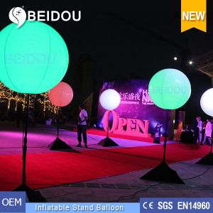 Factory Wholesale PVC Balloons Lighting Advertising Inflatable Tripod Stand Balloon pictures & photos