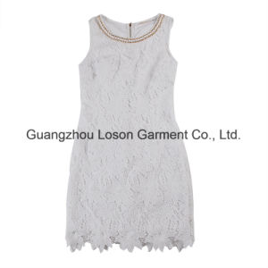 Women Fashion Garment Ladies Party Dress with Lace