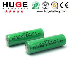 Lithium Thionyl Chloride Li-Socl2 Er14505 AA Size 2700mAh Battery pictures & photos