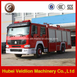 HOWO 4X2 Multi-Function Fire Truck with Lifting Crane pictures & photos