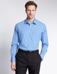 Stand Collar Blue Colour Men Formal Shirt pictures & photos