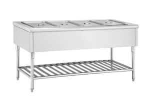 Stainless Steel Food Warmer Trolley with Shelf pictures & photos