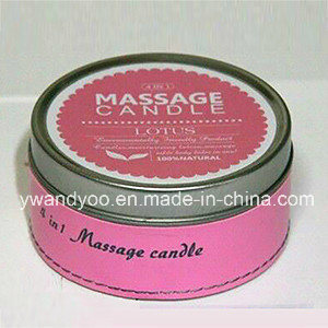 Hot Sale Scented Massage Candle in Tin
