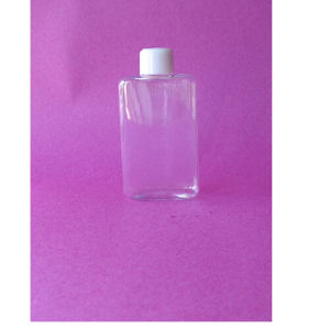 100ml Flat Rectangle Clear Pet Bottle with Screw Cap pictures & photos