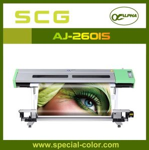 Alpha Jet Eco Solvent Printer with Double Dx5 Print Head pictures & photos
