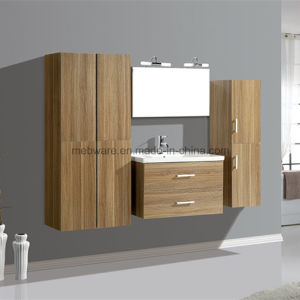 Double Sink MDF Bathroom Vanity with Side Cabinet pictures & photos