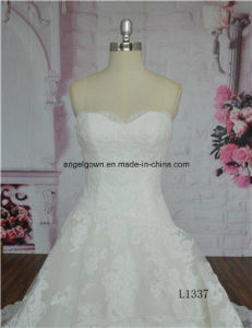 Women Ivory Beads Floor Length Bridal Dress Ball Gown Bridal pictures & photos