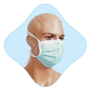 Disposable Face Mask with Tie pictures & photos