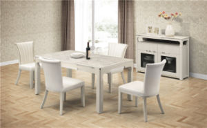 Whitedining Room Furniture Set Dining Table (CY-2020+CT-2020) pictures & photos