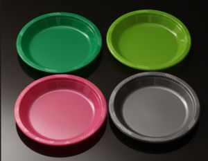 Wholesale Dinner Plate Disposable Plastic Plates Multicolor Tray pictures & photos