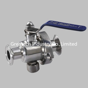 Stainless Steel Ss304 and Ss316L Straight Ball Valve, Clamp Ends.