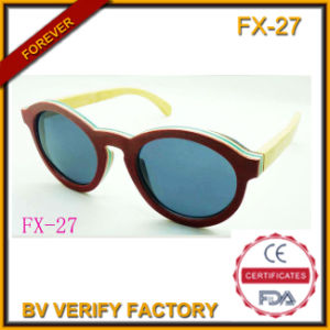 Bamboo and Wooden Frame Sunglasses (FX27) pictures & photos