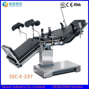 C-Arm Compatible Radiolucent Hospital OT Use Electric Operating Room Table pictures & photos