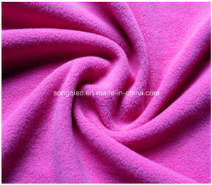 100% Polyester Polar Fleece Fabric in Solid Color pictures & photos