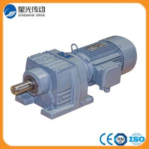 Matte Grey R Series Power Transmission Helical Geared Motor Gear Reducer pictures & photos