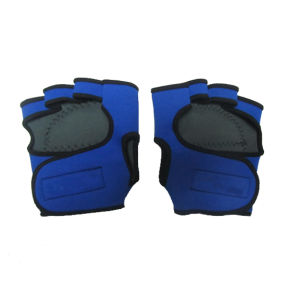 Neoprene Weightlifting Gloves with Nylon Fabric (HX-G0047) pictures & photos