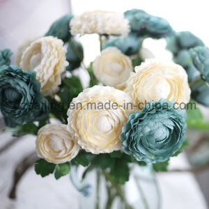 Colorful Retro Single Ranunculus Artificial Flower (SW04801)