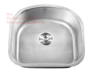 "21""X20"" Stainless Steel D Shape Single Bowl Kitchen Sink pictures & photos"
