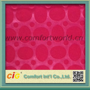 Red Color Sofa Fabric Made of Flocking Material for Decorate pictures & photos