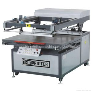 Tmp-90120 Leather Oblique Arm Type Flat Screen Printer Machine pictures & photos