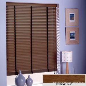 Wand Cord Tilt 50mm Timber Venetian Wooden Blinds with Ladder Tape pictures & photos