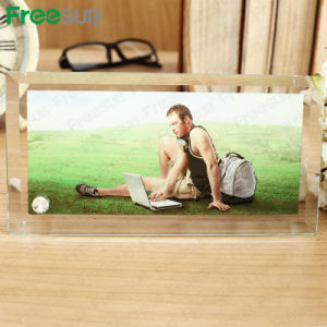 Freesub Manufacturer Supply Blank Sublimation Glass Photo Frame (BL-08) pictures & photos