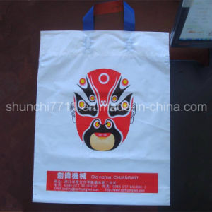 Plastic White Handle Shopping Bag with Loop pictures & photos