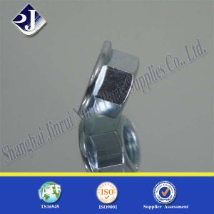 Hex Flange Nut with Blue Zinc pictures & photos