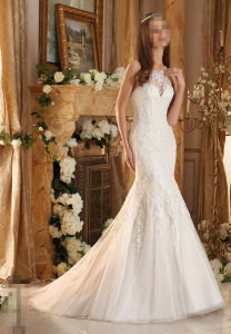 2016 Ivory Lace Mermaid Bridal Wedding Dresses 5462 pictures & photos
